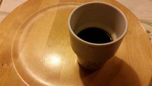 Morgon kaffe i väntan skjuts till Stockholm